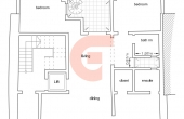 GE1736, Duplex Large Squarish Layout Maisonette